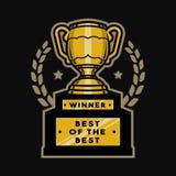 Goldschalentrophäe, Emblem, Logo Lizenzfreie Stockbilder