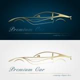 Goldschattenbildauto stock abbildung