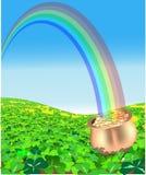 Goldschatz an St Patrick Tag lizenzfreie abbildung