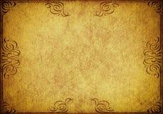 Goldschmutz-Papierhintergrund Stockbilder