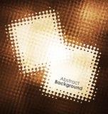 Goldschmutz-Vektorrahmen Kann als Postkarte verwendet werden Vier Schneeflocken auf weißem Hintergrund Alte Backsteinmauer Abstra Stockfotografie