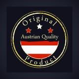 Goldschmutzstempel mit der österreichischen Qualität des Textes und dem ursprünglichen Produkt lizenzfreie abbildung