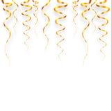 Goldserpentinenvektorillustration Lizenzfreie Stockfotos