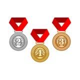 Goldsilber-und Bronzemedaille Lizenzfreie Stockfotos