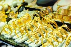 Goldsmith Display Window Royalty Free Stock Photography