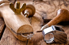 Goldsmith's tools Stock Photo