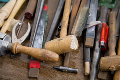 Goldsmith tools Royalty Free Stock Photos