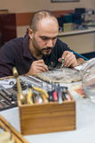 Goldsmith working Stock Photos