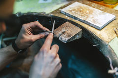 Goldsmith working Stock Images