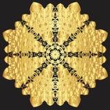 Goldspitzemuster auf einem schwarzen Hintergrund Stockfoto