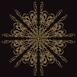 Goldspitzemuster auf einem schwarzen Hintergrund Stockbild