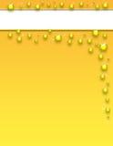 Goldspritzen-Schablone Lizenzfreie Stockbilder
