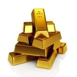 Goldstäbe Lizenzfreie Stockbilder