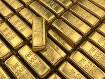 Goldstäbe Stockfotografie