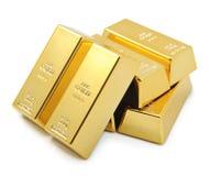 Goldstäbe Stockfotos