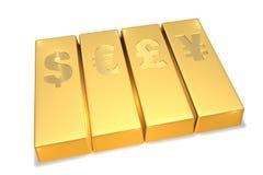 Goldstäbe Stockfoto