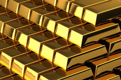 Goldstäbe Stockbild