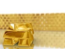 Goldstäbe. Lizenzfreies Stockbild