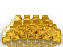 Goldstäbe. Stockfoto
