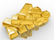 Goldstäbe. Stockbild