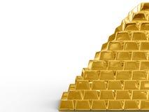 Goldstäbe. Stockfotografie