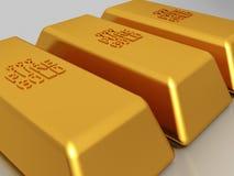 Goldstäbe - Edemetallbarren Stockfoto