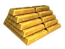 Goldstäbe gestapelt Lizenzfreie Stockbilder