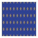 Goldstammes- Mann auf einem blauen Hintergrund lizenzfreies stockfoto
