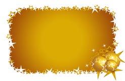 Goldstars e fiori della cartolina di Natale Immagine Stock Libera da Diritti