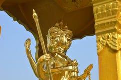 Goldstatue von Brahma Stockfoto