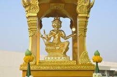 Goldstatue von Brahma Stockbild