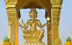 Goldstatue von Brahma Lizenzfreie Stockfotografie