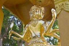 Goldstatue von Brahma Stockfotografie