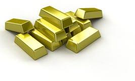 Goldstäbe Lizenzfreies Stockbild