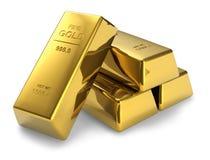 Goldstäbe Lizenzfreie Stockfotografie