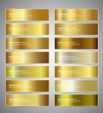 Goldsteigungs-Vektorfahnen lizenzfreie abbildung