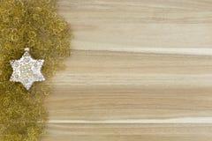 Goldstern Weihnachtsdekoration Stockbilder