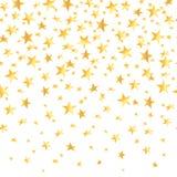 Goldsterne mit einem nahtlosen Hintergrund der Steigung Auch im corel abgehobenen Betrag Lizenzfreies Stockfoto