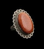 Goldstone ring Stock Photos