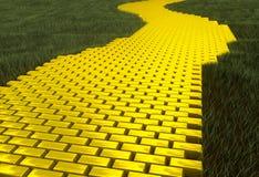 Goldstraße lizenzfreie stockbilder