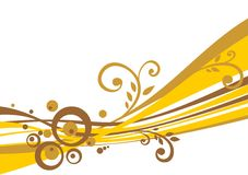 Goldstreifen Lizenzfreie Stockfotografie