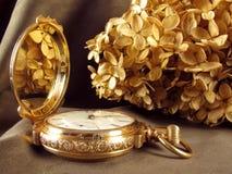 Goldtaschen-Uhr Stockbild