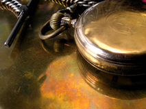 Goldtaschen-Uhr stockfotos