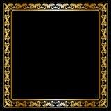 Goldten frame Royalty Free Stock Image