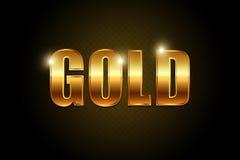 Goldtext Stockbild
