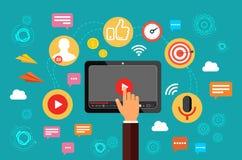 Goldtext auf dunklem Hintergrund Video, webinar, on-line-Konferenz On-line-Kommunikation im Internet Auch im corel abgehobenen Be lizenzfreie abbildung