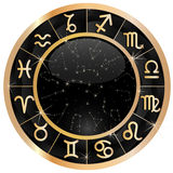 Goldtierkreis-Kreisexemplar Stockbild