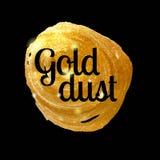 Goldtropfenperlenfarbe, -Gouache und -Aquarell Wischen Sie die Basis für Design ab Auch im corel abgehobenen Betrag Stockbild