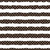 Goldtupfen auf modischem Hintergrund des nahtlosen Musters der weißen und schwarzen Streifen Goldene Folienkonfettis Elegantes Mu stock abbildung