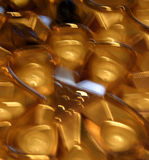 Goldunschärfe Stockfoto